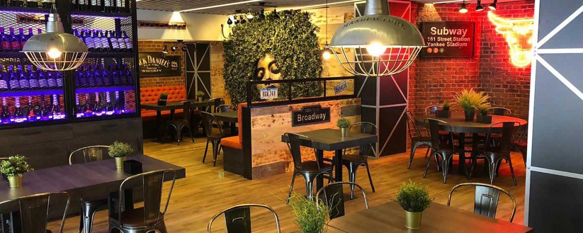 Interiorismo Restaurante Black Label Murcia 1